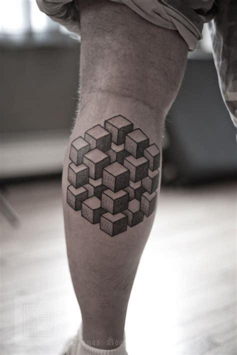 optical illusions tattoo tattoos optical illusion