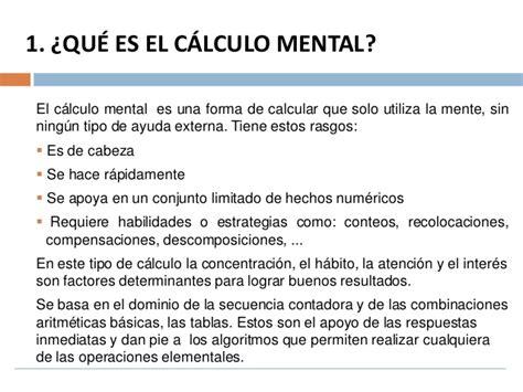 calculo mental como trabajar el c 225 lculo mental