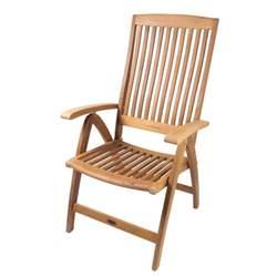 Folding Deck Chair by Seateak Weatherly Folding 6 Position Teak Deck Chair