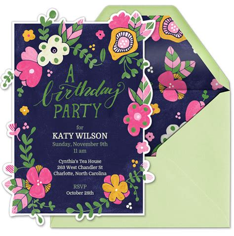 birthday garden invitation wording garden birthday evite