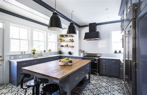 tips to consider when selecting a kitchen island design interior design inspiration grey and black patterned vinyl tile flooring for kitchen