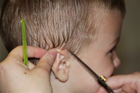 how to cut boys hair like a pro heavenly homemakers cutting around boys ears tips for cutting kids hair