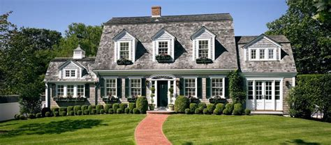 ideas dutch colonial homes gambrel style beautiful dutch colonial with boxwoods and window boxes