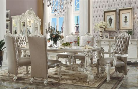white dining room sets formal furniture versailles formal dining room set in white