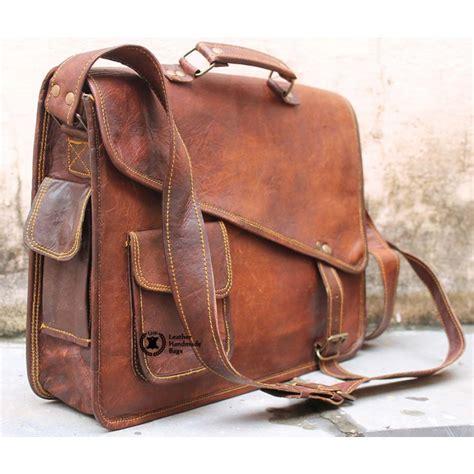 Designer Handmade Bags - distressed leather messenger bag for kjkhvmwbp bag