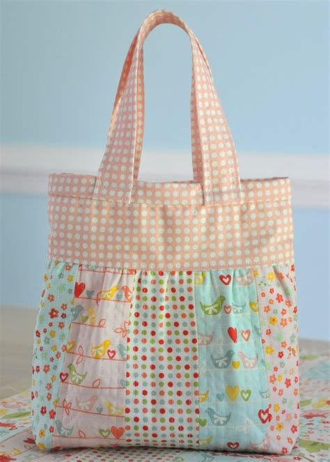 Patchwork Quilt Bags - clover violet patchwork baby doll quilt and mini
