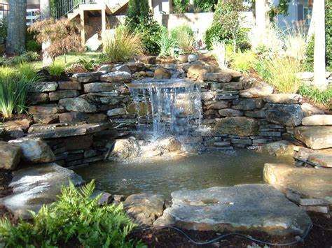 backyard pond with waterfall backyard waterfall
