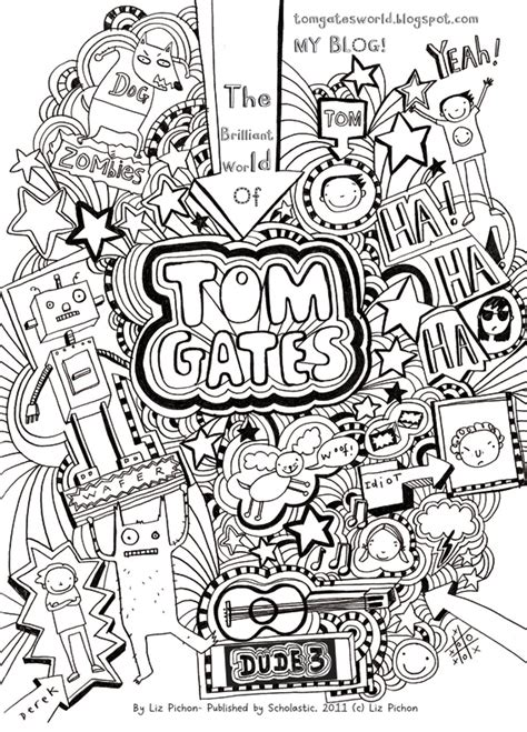 doodle tom gates tom gates colouring sheet scholastic club