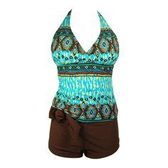 Wst 7268 Ethnic Dress Brown swimsuits for on tankini swim dress and