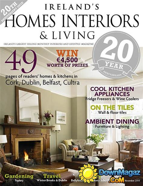 home interior design magazine pdf download ireland s homes interiors living november 2014