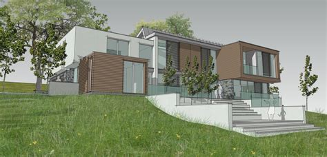 contemporary house design progresses through feasibility