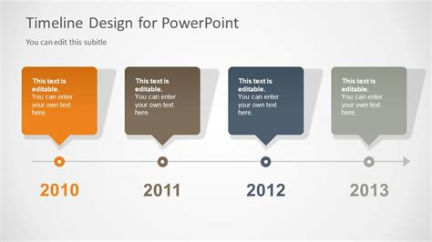 powerpoint timeline templates timeline slide design for powerpoint with 4 milestones