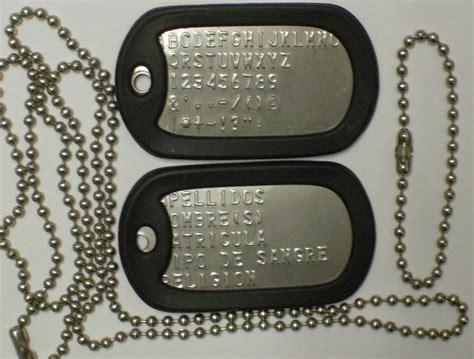 cadenas con chapas militares tienda rescate militar placas y esclavas