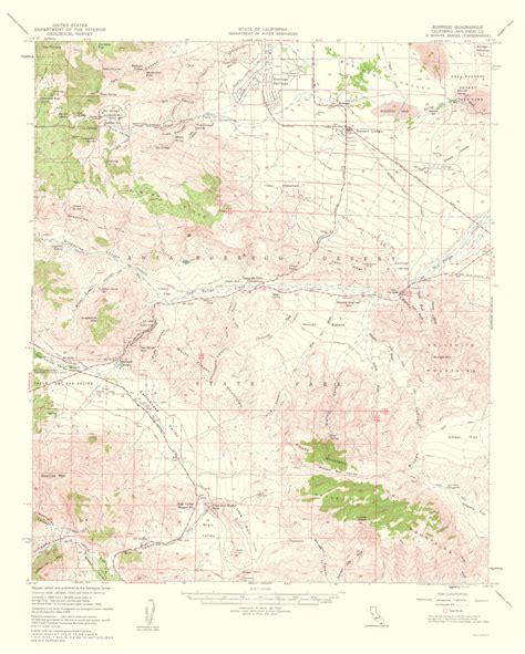 usgs topo maps california historical topographical maps borrego quadrangle