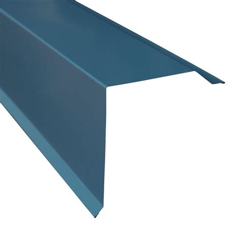 metal sales gable trim in ocean blue 4206035 the home depot