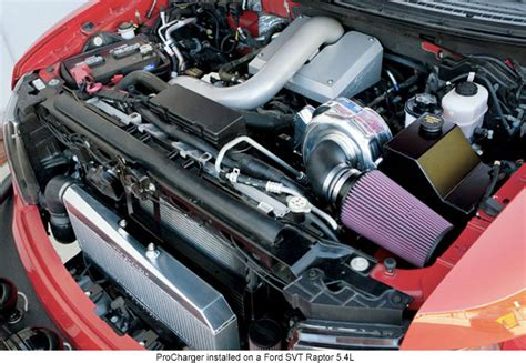 ford supercharger procharger supercharges the ford f 150 svt raptor 5 4l and