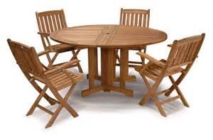 table jardin ronde bois
