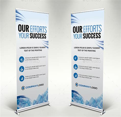 templates for roller banners 25 rollup banner templates free sle exle format