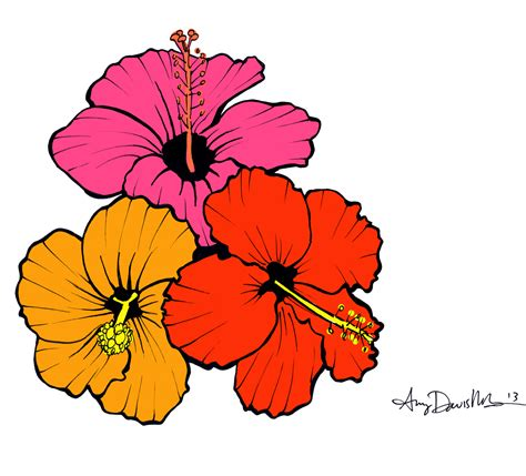 random acts of art 3 4 hibiscus flowers 187 mad art lab