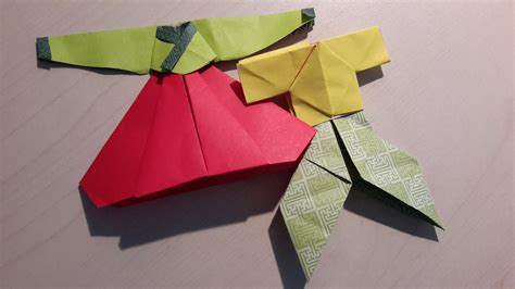 Korean Origami - file origami hanbok jpg wikimedia commons