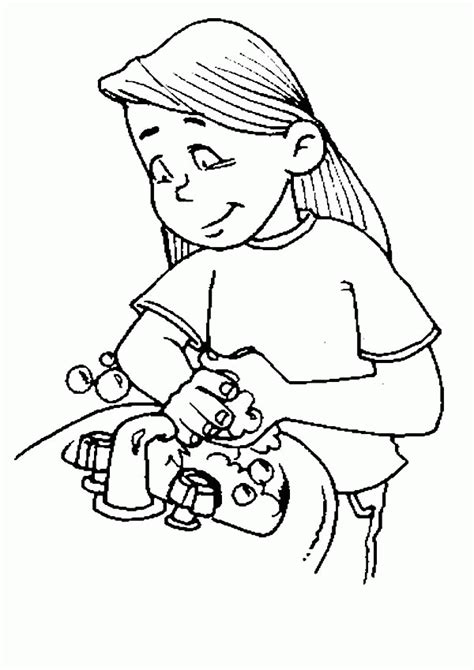 Handwashing Coloring Page Coloring Home Washing For Coloring Pages