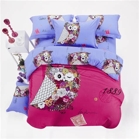 twin owl bedding owl girls bedding sets king size queen twin children