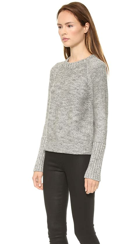 Ready Roundhand Sweater 1 lyst j brand helms sweater grey in gray