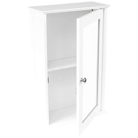 wall mounted cabinet bathroom white single door
