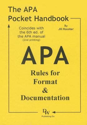 Apa Documentation 6th Edition