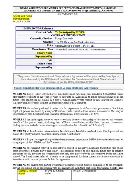 ncnd agreement template imfpa ncnda