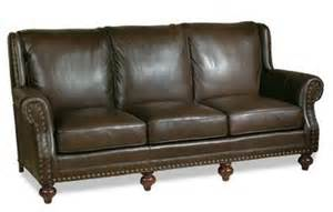 leather sofa with nailheads new leather sofa crafted usa high back nailhead