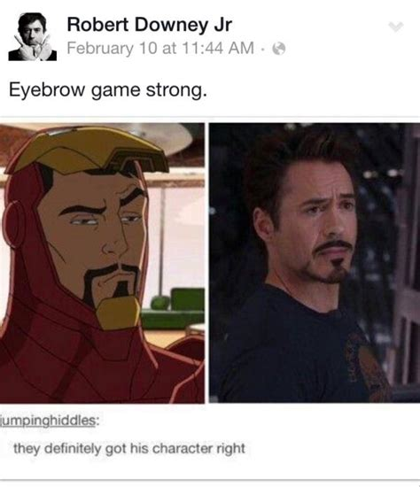 Robert Downey Meme - eyebrow game strong robert downey jr know your meme