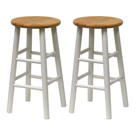 24 Counter Stools 24 Quot Counter Bar Stools In White And Set Of 2 53784