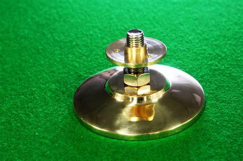deluxe copper gold billiard pool table leg leveler