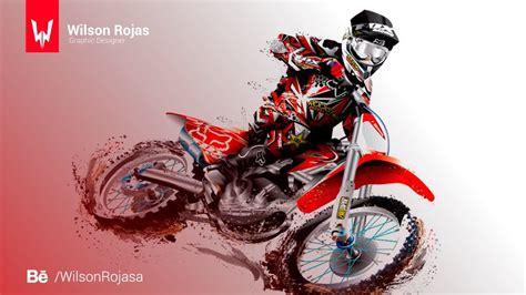 Motocross Motorrad Comic by Motocross Speed Illustrator Wilson Rojas