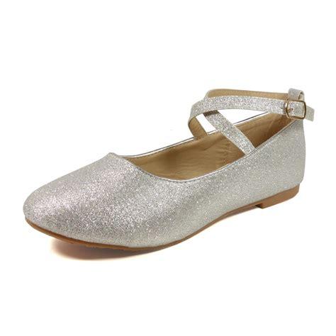 Flat Shoes Glit Silver 1 utopia toddler flat shoes nfgf041 silver glitter footwear