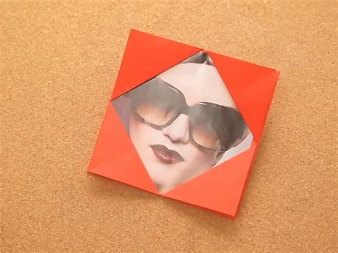 How To Make Paper Photo Frames - how to make a simple origami photo frame 7 steps