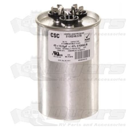 start capacitor dometic dometic a c run start fan capacitor 45 10 mfd air conditioner parts air conditioners rv