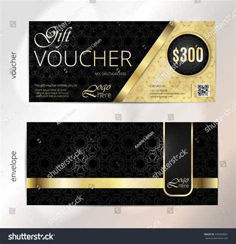 design background voucher voucher gift luxury certificate coupon template stock