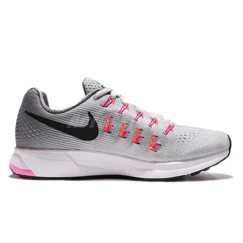 Sepatu Nike Zoom Womens Pink Import wmns nike air zoom pegasus 33 grey pink womens running shoes sneakers 831356 006 ebay