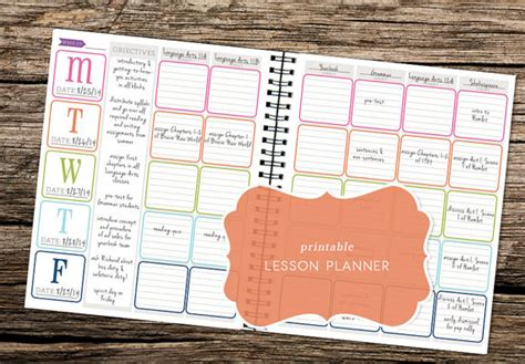 printable lesson plan calendar 2016 printable 2015 2016 lesson planner kit great for by trewstudio