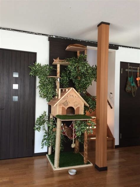 real tree or fake foe cats i thought it was a normal cat house but when the zooms out beautiful