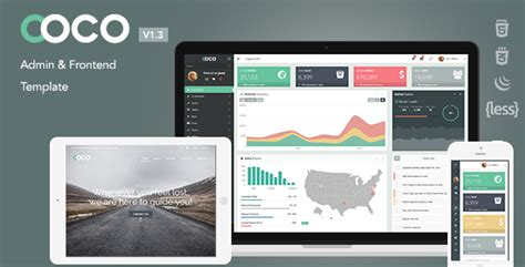 templates bootstrap frontend coco v1 3 3 responsive bootstrap admin and frontend