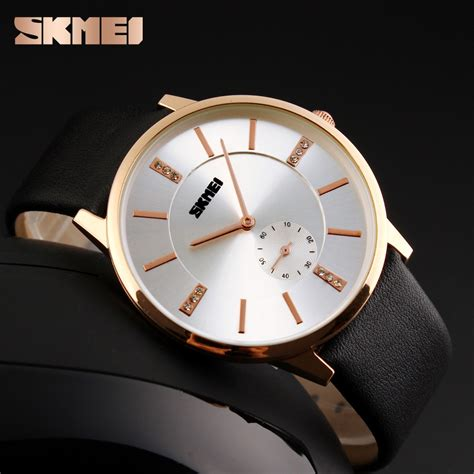 Skmei Casual Leather Water Resistant 30m 1168cl Bl 1 skmei jam tangan analog pria 1168cl black gold