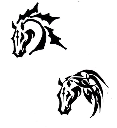 tribal horse head tattoos tribal clipart best