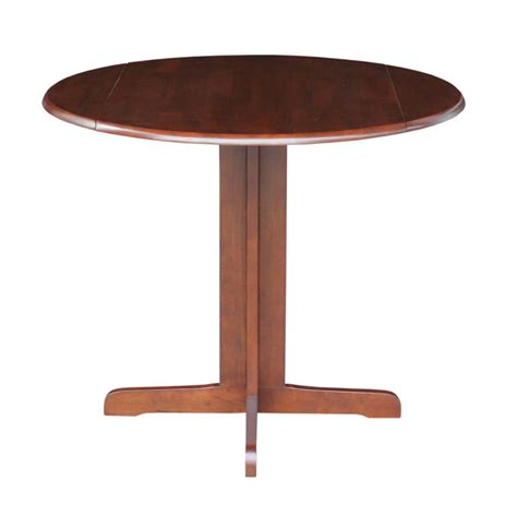 international concepts 36 quot dual drop leaf dining table in