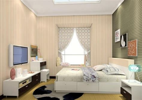 Bedroom Design Tv Wall Modern Minimalist Bedroom Tv Wall Design 3d