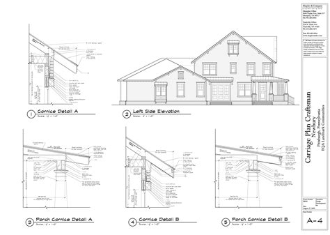 gesims detail preliminary home design carriage homes newbury