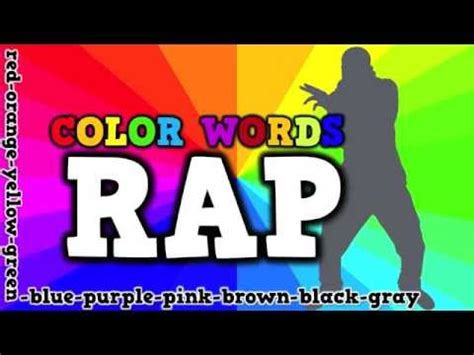 color word songs color words rap song for about spelling color words