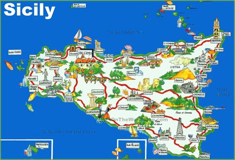 map of sicily italy maps update 12001212 sicily tourist map 12 toprated
